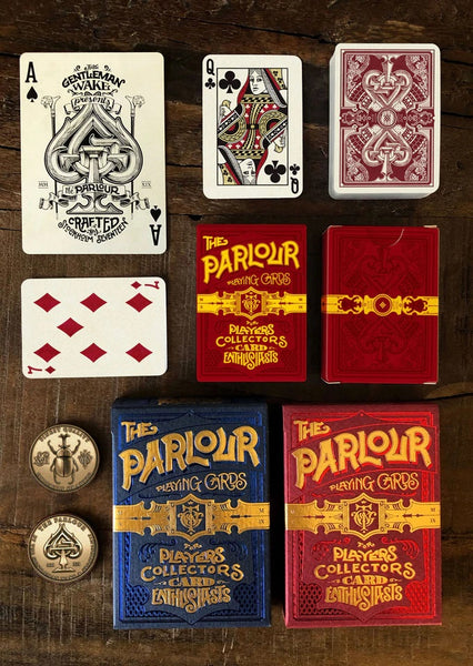 The Parlour Mini Playing Cards Designed by Stockholm 17 Gentleman Wake
