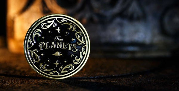 The Planets Playing Cards Gold Coin Collectors Card Guard 1.75 Inches