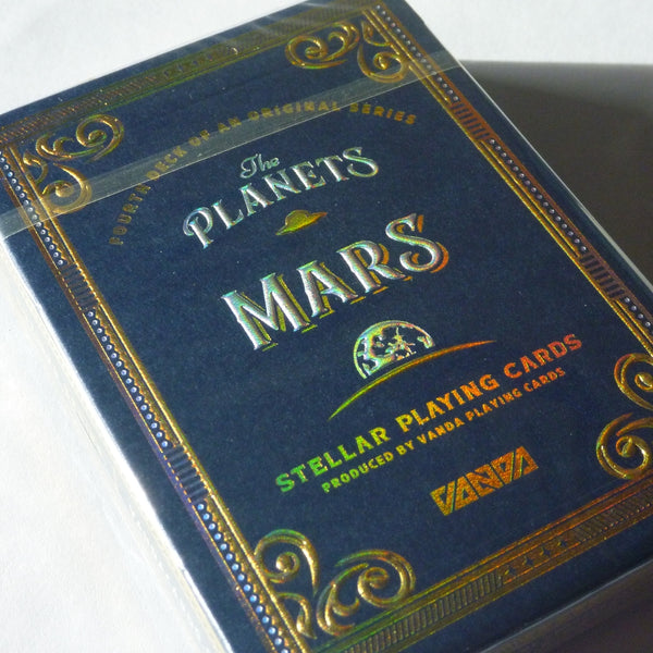 Mars Playing Cards Rare Limited Edition Sealed in Luxury Acrylic Display Case