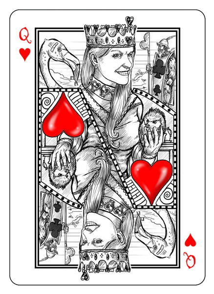 The White Rabbit Playing Cards White Edition by Albino Dragon