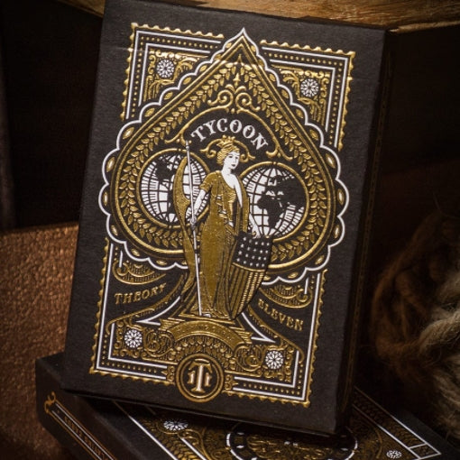 Tycoon Playing Cards Black Edition Luxury Foil Gold Embossed Box