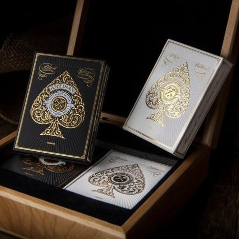 ARTISAN Luxury Edition Playing Cards Collectors Theory 11 Wooden Boxset ~ 4 Decks