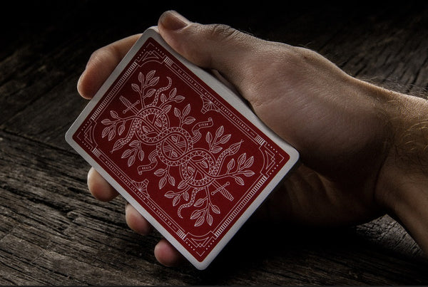 Monarchs Playing Cards Red Gold Embossed Box by Theory 11