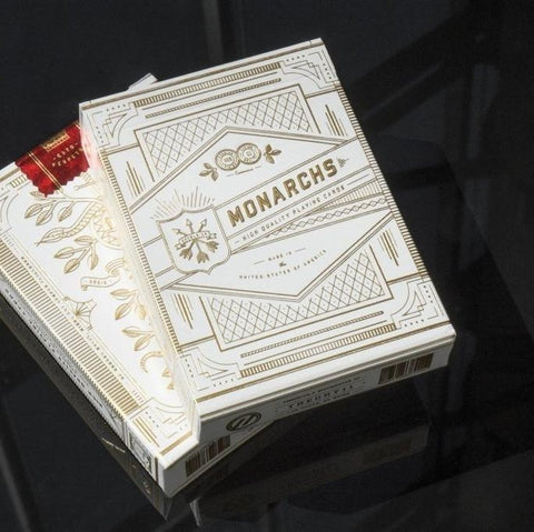 Monarchs Playing Cards ~ Rare White Gold Edition Deck ~ Theory 11 Las Vegas USA