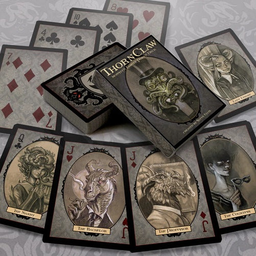 Thornclaw Manor Playing Cards Monster Family deck by Steve Ellis