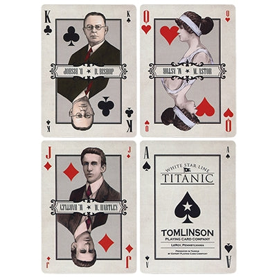 Titanic White Star Line Playing Cards Deluxe Edition approved by Cunard