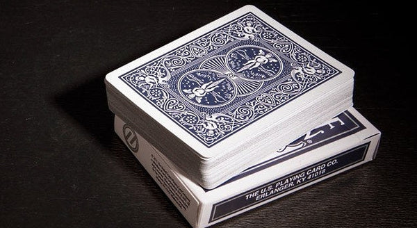 Titanium Rider Back Playing Cards Steel Blue Edition Deck