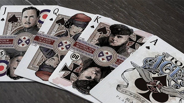 Top Aces of WWI Playing Cards Signature Edition Numbered Deck