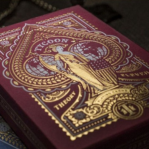 Tycoon Red Playing Cards Gold Foil Embossed Luxury Deck