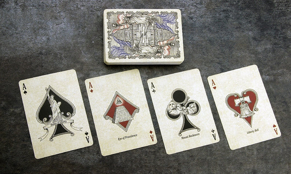 US Presidents Playing Cards Deluxe Embossed Collector Edition