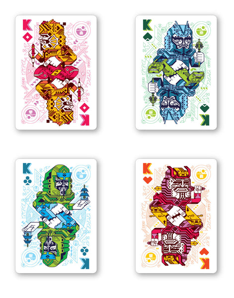 Ultimate Universe Playing Cards 8-bit Retro Coloured Edition