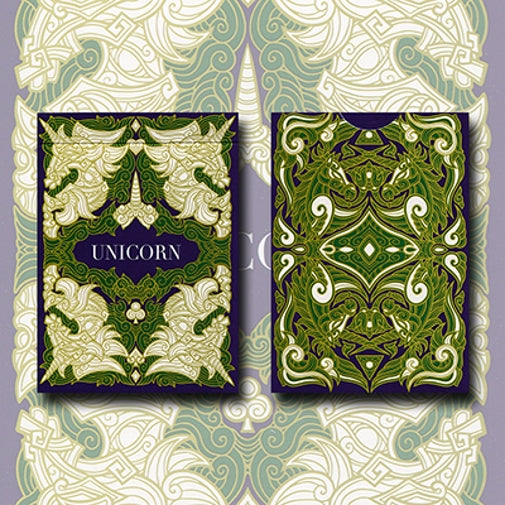 Unicorn Playing Cards Emerald Edition deck by Aloys Design Studio