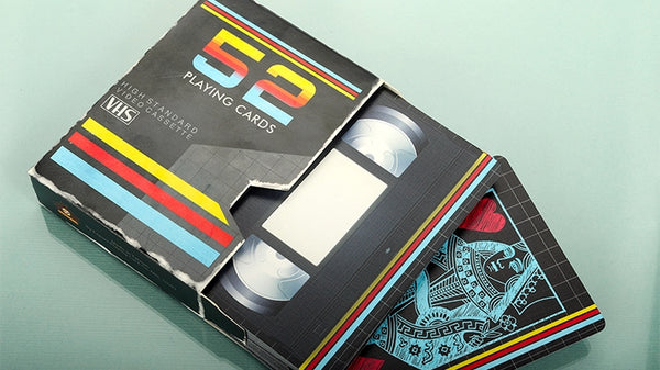 Playing Card Gift Set Cinema VHS Retro Console Domino 4 Decks