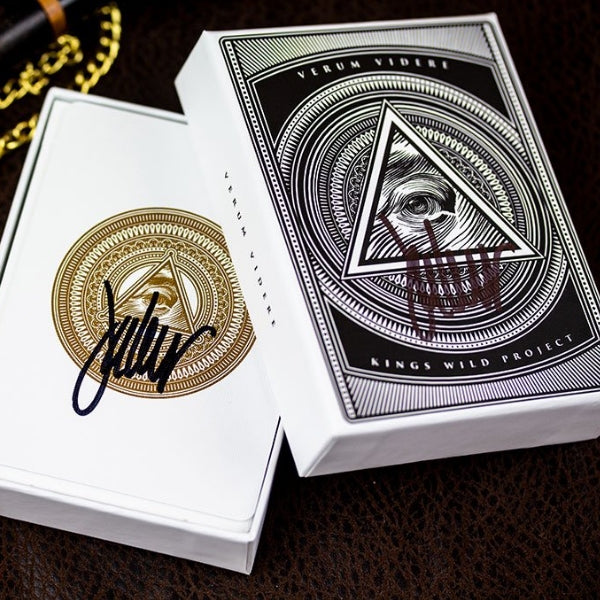Verum Videre Playing Cards 2nd Anniversary Edition Signed Double Tuck
