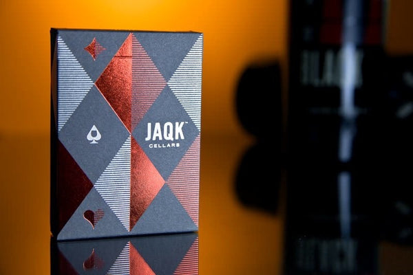 JAQK Playing Cards Blue & Red Editions Wooden Boxset
