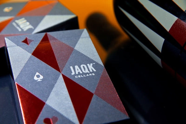 JAQK Playing Cards Blue & Red Editions Black Gloss Wooden Boxset