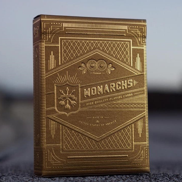 Gold Monarchs Playing Cards Luxury Embossed Rare Deck by Theory 11