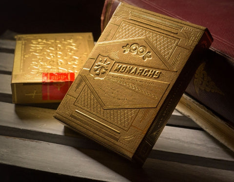 Very Rare Monarchs Gold Foil Playing Cards Embossed Case Theory 11 ~ Metal Foil on all Cards