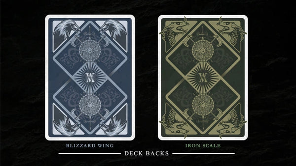 Viking Playing Cards Iron Scale & Blizzard Wing Editions 2 Deck Set