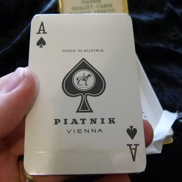 London Vintage Piatnik Playing Cards Rare deck Gold Trim Sealed