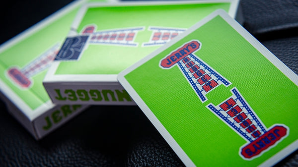 Vintage Feel Jerry's Nuggets Playing Cards Green Edition