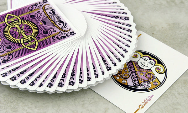 Buyworthy:Viola Playing Cards Purple Magic Poker Deck Made in USA Brand New & Sealed