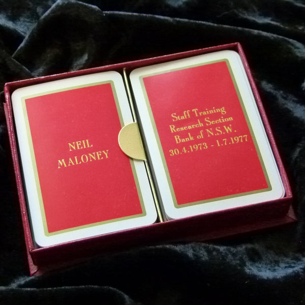 Vogue Vintage Playing Cards Rare Neil Maloney Bank of NSW 1977 Set 2-decks