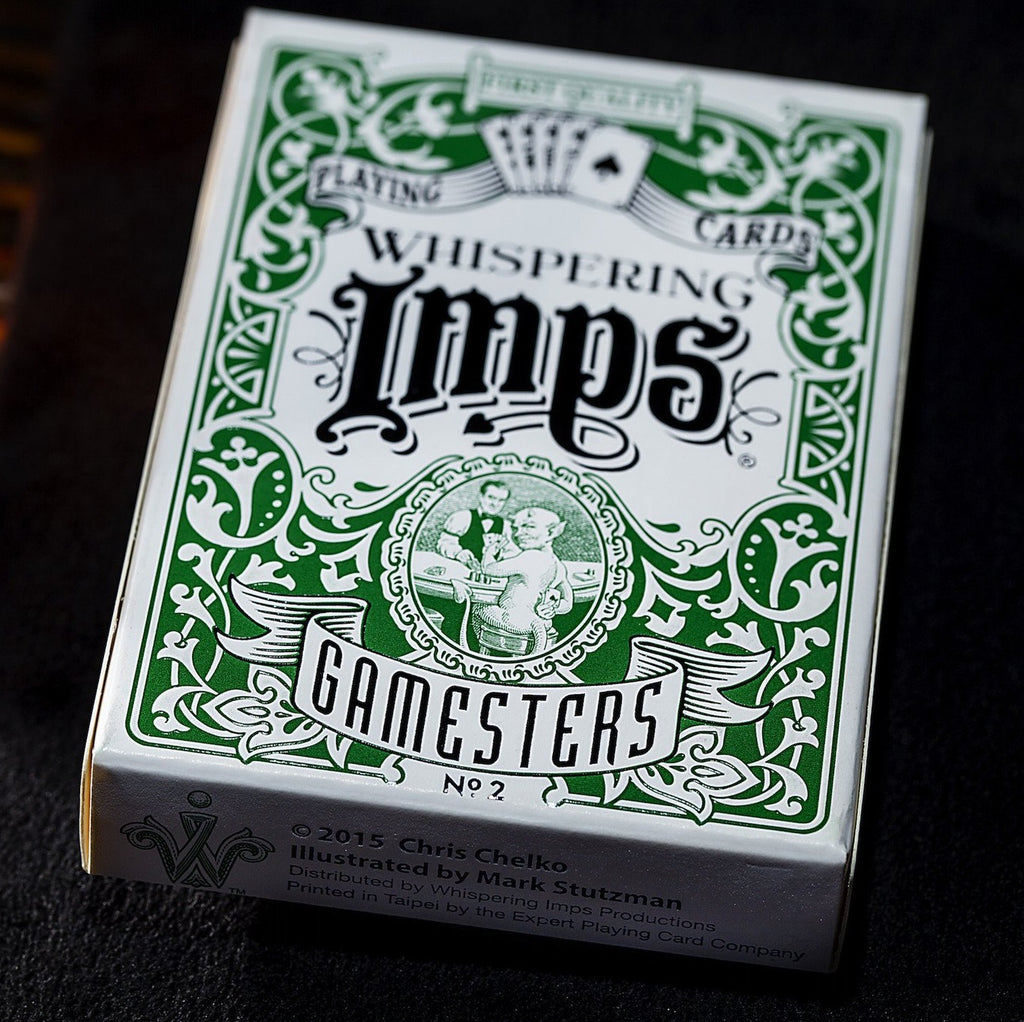 Whispering Imps Gamesters Playing Cards Rare No. 2 Exclusive Green Edition