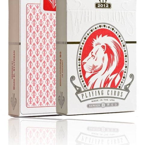 White Lions Playing Cards David Blaine Series B Rare Red Deck ~ Hidden Features