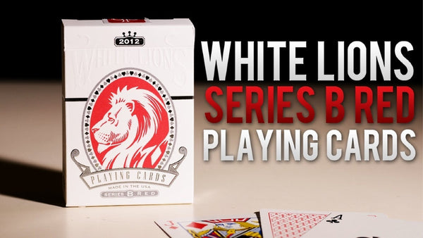 Buyworthy:White Lions Playing Cards David Blaine Series B Rare Red Deck ~ Hidden Features