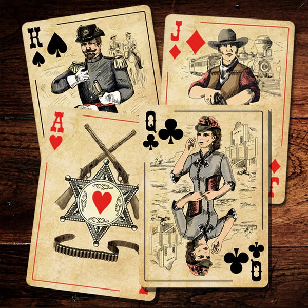 Wild West Playing Cards Gunfighters Native American Collectors 2-Deck Set