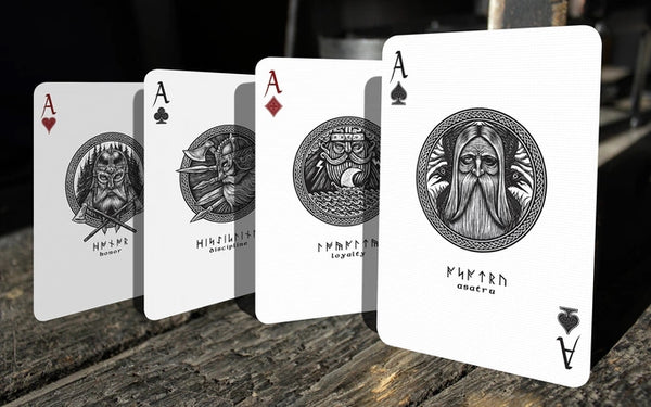 Yggdrasil Midgard Playing Cards Rare Set + Book + Alphabet + Pouch