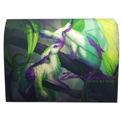 Zodiac Creatures 2020 Art Calendar by Leslie Casilli Fantasy Artwork Limited Edition