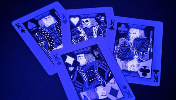 Tragic Royalty Playing Cards Halloween Undead Glow in UV Light