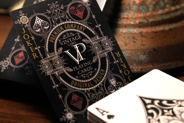 Vintage Label Playing Cards Premier Black Edition by Craig Maidment