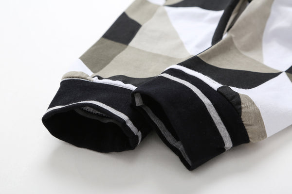 Hello World Black and White Jogger and Pullover with Matching Beanie - Jelly Belly Babies LLC.