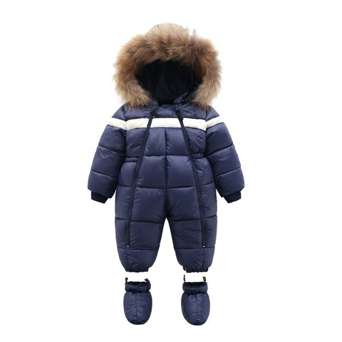 Winter Infant Baby Boy Girl Romper Thicken Baby Snowsuit  Windproof Warm Jumpsuit For Children Clothes Toddler Outfit - Jelly Belly Babies LLC.