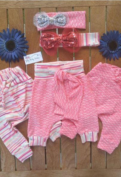 Wendy Joggers And Headbows Set - Jelly Belly Babies LLC.