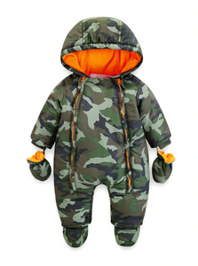 Newborn Baby Rompers Overalls Outdoors Winter Thick Girls Boys Infant Outwear - Jelly Belly Babies LLC.