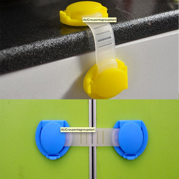 10Pcs/Lot Child Lock Protection Of Children Locking Doors For Children's Safety Kids Plastic Lock best selling