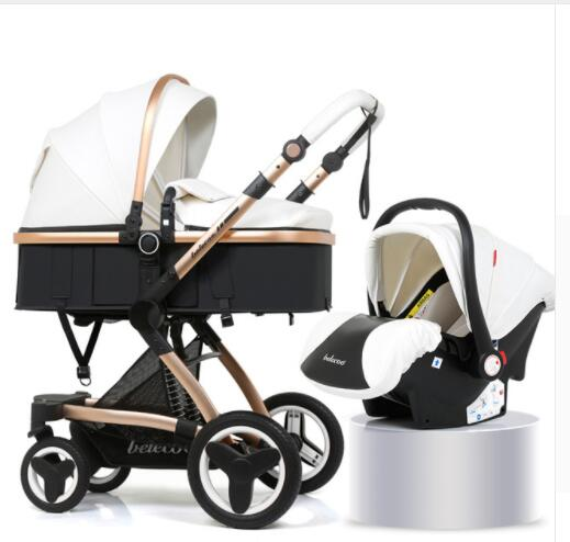 Luxury Baby Stroller  2 in 1 Carriage High Landscape Pram Suite for Lying