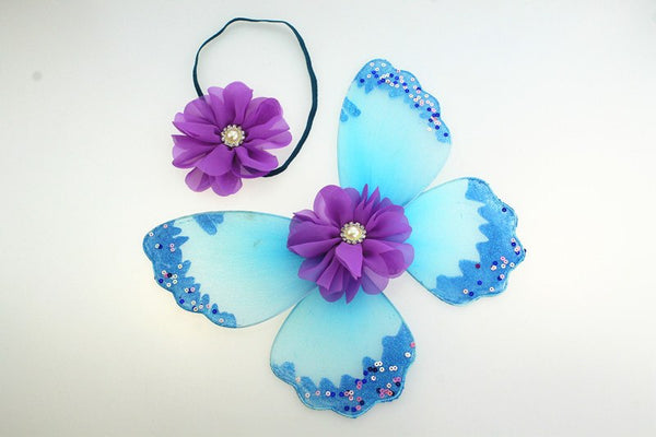 Baby Photo Costume Butterfly Wings with Matching Headpiece - Jelly Belly Babies LLC.