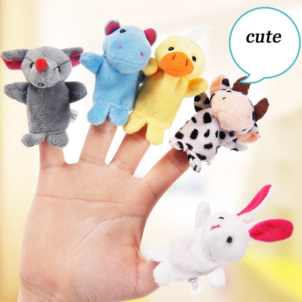 Plush Finger Puppet Toys for Baby / Toddlers 16 Pieces - Jelly Belly Babies LLC.