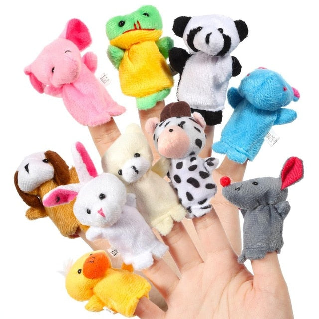 Unisex Toys for  Toddlers Puppet Plush Toys 16 Pieces - Jelly Belly Babies LLC.