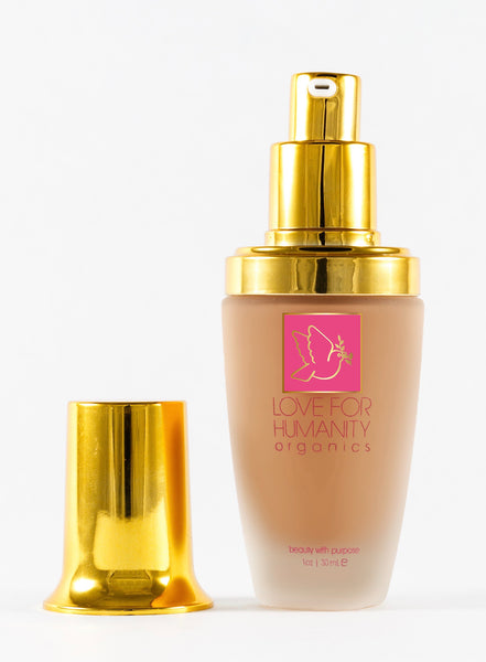 FLAWLESS FOUNDATION - Sandalwood - Love For Humanity Organics