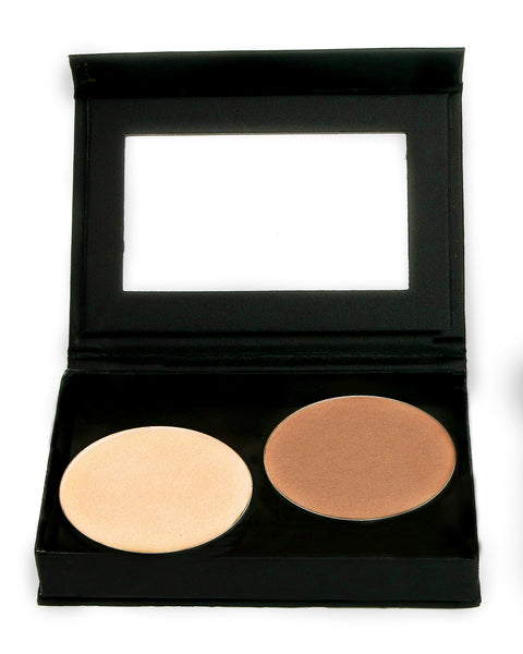 PERFECTLY CONTOURED BRONZER & HIGHLIGHTER DUO - Touch of Sun