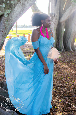 Samantha Bridesmaid Gown in French Blue