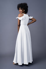 SYLVIA BRIDESMAID GOWN WHITE