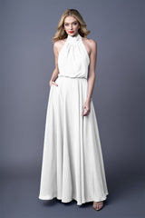 GISELLE BRIDESMAID GOWN WHITE