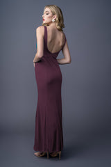 SANDRA BRIDESMAID GOWN MERLOT